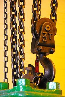 Large metal chain and hook